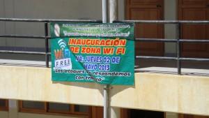 Banner que anuncia el inicio de los servicios de WI FI en la UNAT
