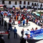 Autoridades locales y regionales encabezando el Raymillacta 2013