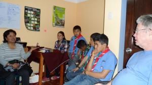 Dutante la reunión los Scout exponen sus inquietudes