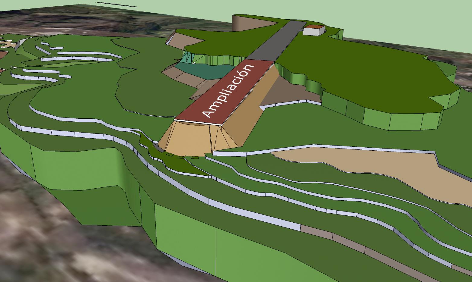 Maqueta de la ampliación del Aeropuerto de Chachapoyas.