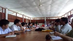 Reunión de Trabajo MCLCP Condorcanqui en cuyo marco se presentó el Plan de Trabajo.