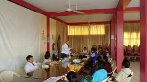 Reunión de Trabajo en el Auditorio de la Municipalidad de Utcubamba