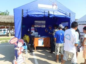 Carpa de RENIEC en la Campaña Integral de Condorcanqui