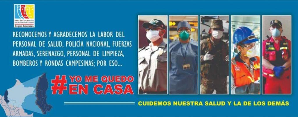 Campaña de sensibilización para el reconocimiento del personal que combate el Coronavirus